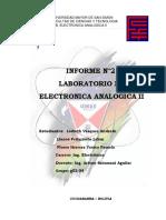 Informe de Electronica AnalogicaII No.2