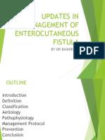 Updates in Management of Enterocutaneous Fistula