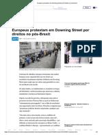 Europeus Protestam Downing Street Direitos Pós Brexit