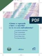 ¿Cómo se aprende a leer y escribir en El Salvador? Estudio cualitativo (2005)