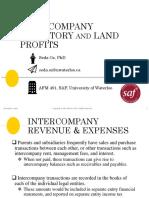 6 Intercompany Land and Profits