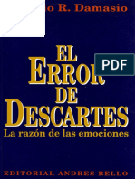 Damasio El Error de Descartes
