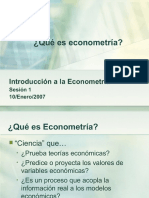 Clase 1, Quu00e9 Es Econometru00eda