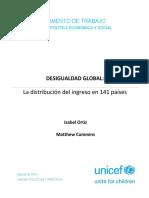 Desigualdad Global. La Distribución del ingreso en 141 países