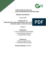 Práctica 14 - Determinación espectrofotométrica de la constante de acidez del indicador químico verde de bromocresol