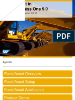 Fixed Assets SAP Business One 9.0