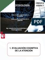 Sesion 07 Evaluacion Cognitiva de Atencion y Memoria