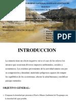 Comparacion de La Densidad Del Pasivo Ambiental Minero de Ticapampa Con La Densidad Del Agua