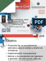 1. Metodo Matricial Para El Analisis de Armaduras Planas y Espaciales