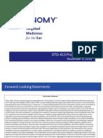 Otonomy OTO-413 Presentation (November 5, 2018)