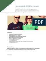 Uso de Google en La Eduacion