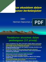 13. Pendekatan Ekosistem Dalam Pembangunan Berkelanjutan