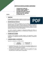 MEMORIA DESCRIPTIVA DE INSTALACIONES  SANITARIAS ESTRELLA.docx