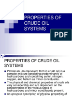properties of Crude Oil Systems