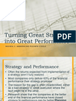 Turning Great Strategy Into Great Performance