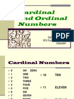 PPT Cardinal and Ordinal Numbers