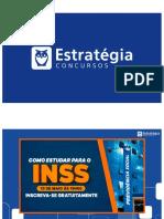 3) Como Estudar Para INSS - Técnico (Slides - Alunos)