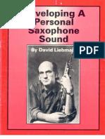 Liebman, David - Developing A Personal Saxophone Sound.pdf