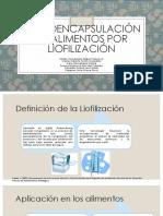 microencapsulación por liofilización