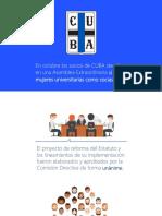 Presentación de las reformas del estatuto del CUBA