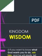 Wisdom to Prosper