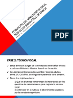 Tecnica vocal de coro