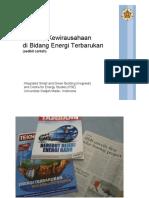 Kewirausahaan Energi - PSE