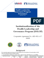 Orientation to HLGP