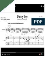 Danny Boy Score Jcollier