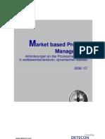 Detecon Opinion Paper Market-based Process Management. Anforderungen an das Prozessmanagement in wettbewerbsintensiven, dynamischen Märkten