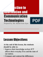 1. Introduction to Information and Communication Technologies