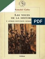 Ranajit Guha - Las Voces de La Historia - Pp.17-32