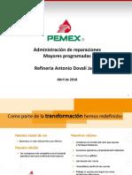Administración de Reparaciones Mayores Programadas PAI 3-4-10 NR