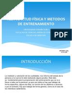 Test Aptitud Física y Métodos de Entrenamiento.