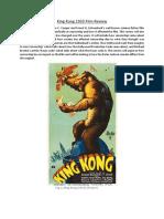 King Kong 1933 Film Review