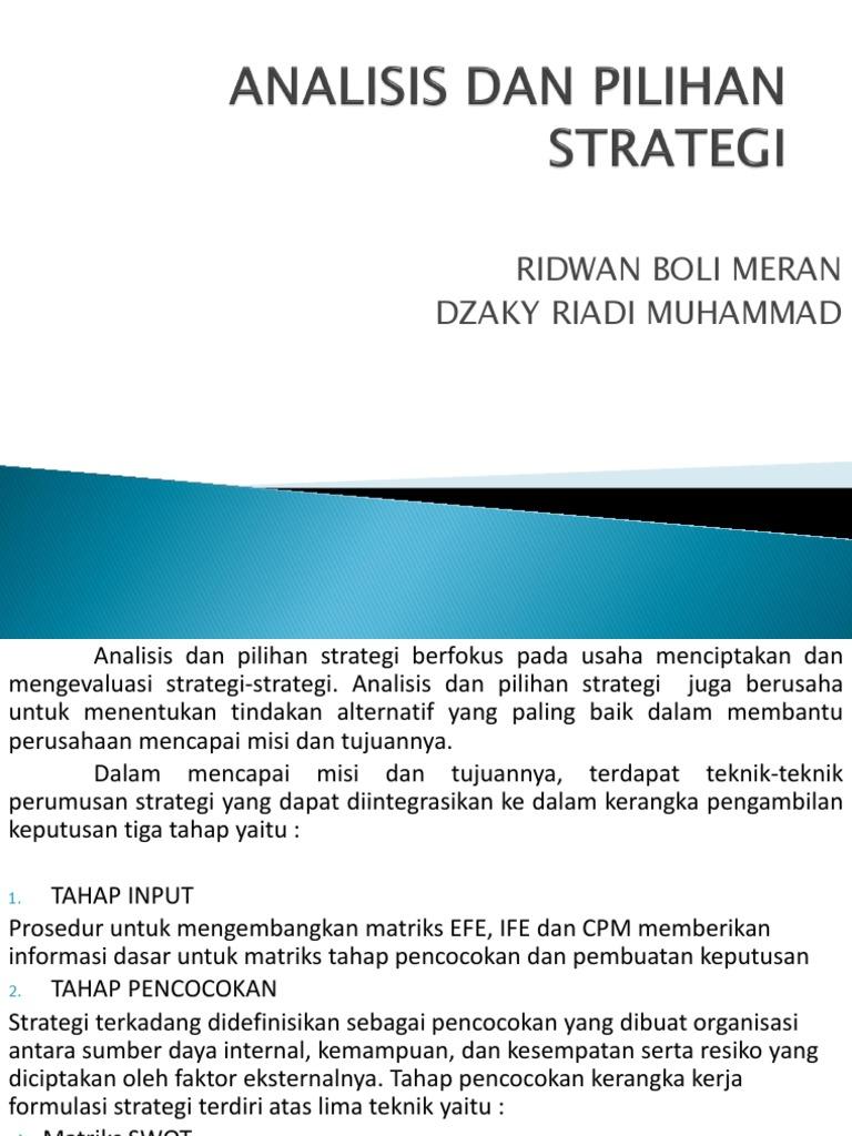 matriks strategi pilihan