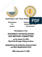 IIRC Report on the Aug 23 Hostage Taking Incident