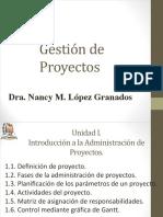Unidad I. Introducción a La Administración de Proyectos