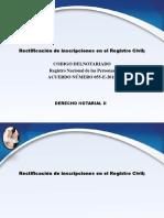 Presentacion de Rectificacion de Inscripcion Rnp