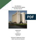 Internship report on ZTBL by mumtaz Ali Hulio