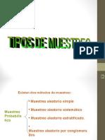1.TIPOS MUESTREO