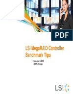 LSI MegaRAID Controller Benchmark Tips