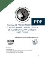 Mexico Manual de Monitero de Calidad Del Agua de Mar Accp 2013