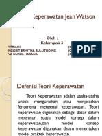 TEORI KEPERAWATAN MENURUT JEAN WATSON