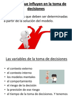 Variables Que Influyen en La Toma de Decisiones. Point