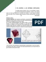 Leyes de Maclas Sistemas Cristalinos