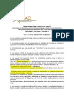 Rieac- Postd on Line- Seminario II Pasantía I- Observaciones Sobre Propuesta de Pasantía- Juditas Torrealba