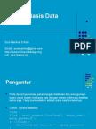 Materi 7 & 8- Konsep Basis Data di Web