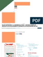 Matematica1 Com Falsa Suposicion y La Diferencia Total y Uni