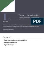 Tema 1.2 - Teoría 2 - Representaciones Cartográficas, Elementos de Mapas y Tipos de Mapas